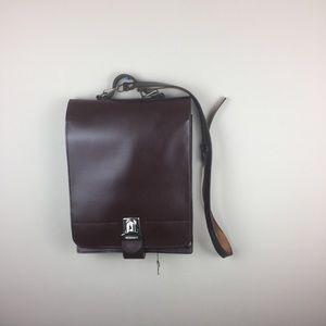 Handbags - Vegan leather vertical brief case with lock & key